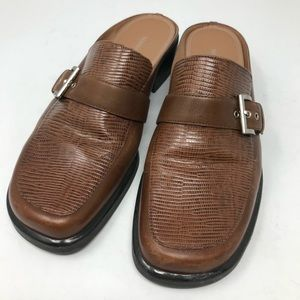 Naturalizer | Brown Leather Loafer Mules